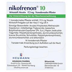 Nikofrenon 10 Heumann 14 Stück - Rückseite