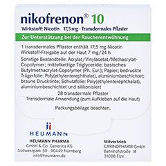 Nikofrenon 10 Heumann 28 Stück - Rückseite