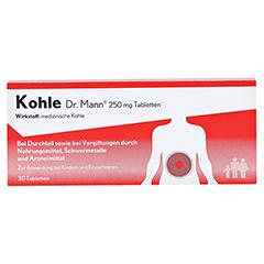 Kohle Dr. Mann Tabletten 20 Stück - Vorderseite