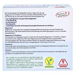 Doppelherz system Magnesium 400 Citrat mit Orange-Granatapfel-Geschmack 40 Stück - Rückseite