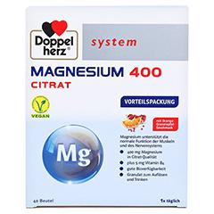 Doppelherz system Magnesium 400 Citrat mit Orange-Granatapfel-Geschmack 40 Stück - Oberseite