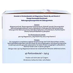 Doppelherz system Magnesium 400 Citrat mit Orange-Granatapfel-Geschmack 40 Stück - Rechte Seite
