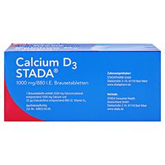 Calcium D3 STADA 1000mg/880 I.E. 120 Stück N3 - Oberseite