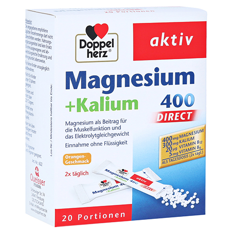 Doppelherz aktiv Magnesium + Kalium 400 Direct 20 Stück