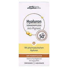 HYALURON SONNENPFLEGE Ges.Anti-Pig.&Anti-Age LSF50 50 Milliliter - Vorderseite
