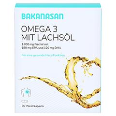 BAKANASAN Omega-3 mit Lachsöl Kapseln 90 Stück - Vorderseite