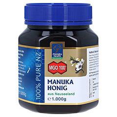 MANUKA HEALTH MGO 100+ Manuka Honig 1000 Gramm - Vorderseite