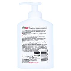 SEBAMED flüssig Waschemulsion mit Spender 200 Milliliter - Rückseite