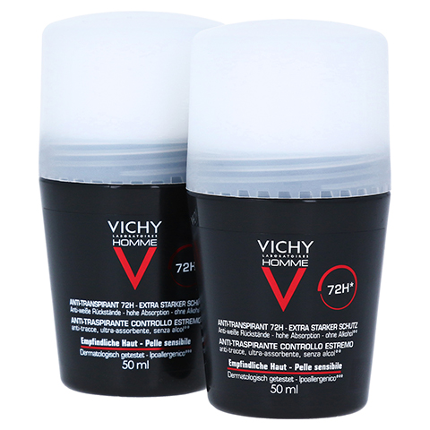 VICHY HOMME Deo Roll-on Anti Transpirant 72h DP 2x50 Milliliter