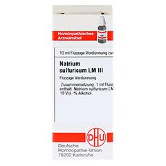 LM NATRIUM sulfuricum III Dilution 10 Milliliter N1 - Vorderseite