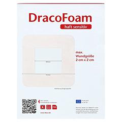 DRACOFOAM Haft sensitiv Schaumst.Wund.7,5x7,5 cm 10 Stück - Rückseite