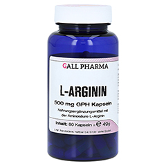 L-ARGININ 500 mg GPH Kapseln 80 Stück
