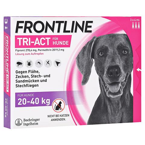 FRONTLINE Tri-Act Lsg.z.Auftropfen f.Hunde 20-40kg 3 Stück