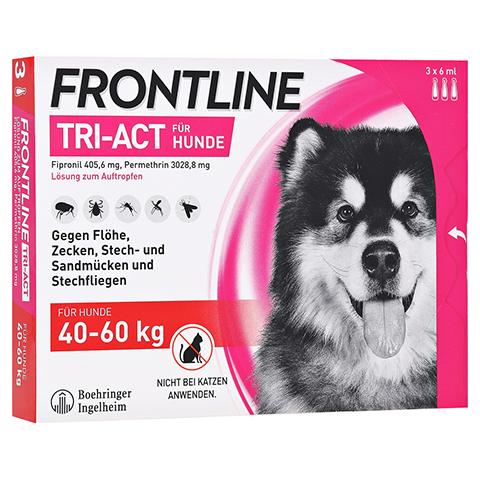 FRONTLINE Tri-Act Lsg.z.Auftropfen f.Hunde 40-60kg 3 Stück