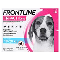 FRONTLINE Tri-Act Lsg.z.Auftropfen f.Hunde 10-20kg 3 Stück - Vorderseite