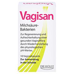 Vagisan Milchsäure Bakterien Vaginalkapseln 10 Stück - Vorderseite