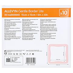 ALLEVYN Gentle Border Lite 15x15 cm Schaumverb. 10 Stück - Rückseite