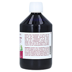 SCHWEDENBITTER m.Safran Lösung 500 Milliliter - Rückseite