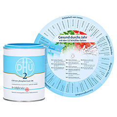 BIOCHEMIE DHU 2 Calcium phosphoricum D 6 Tabletten + gratis DHU Schüßler-Drehscheibe 1000 Stück