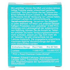 LACTOSTOP 5.500 FCC Tabletten Klickspender 50 Stück - Rückseite