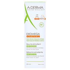 A-DERMA EXOMEGA CONTROL Intensiv Balsam 200 Milliliter - Rückseite