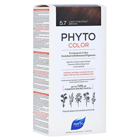 PHYTOCOLOR 5.7 HELLES KASTANIENBRAUN Pflanzliche Coloration 1 Stück