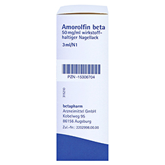 Amorolfin beta 50mg/ml 3 Milliliter N1 - Rechte Seite