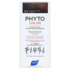 PHYTOCOLOR 5.7 HELLES KASTANIENBRAUN Pflanzliche Coloration 1 Stück - Vorderseite