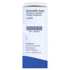 Amorolfin beta 50mg/ml 5 Milliliter N2 - Rechte Seite