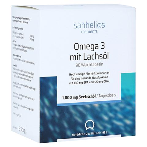 SANHELIOS Omega-3 mit Lachsöl Kapseln 90 Stück