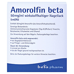 Amorolfin beta 50mg/ml 5 Milliliter N2 - Rückseite