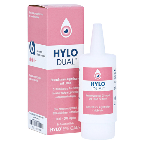 HYLO DUAL Augentropfen 10 Milliliter