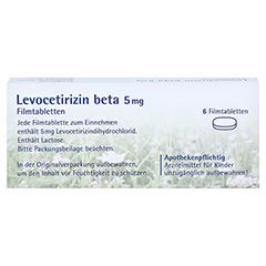 Levocetirizin beta 5mg 6 Stück - Rückseite