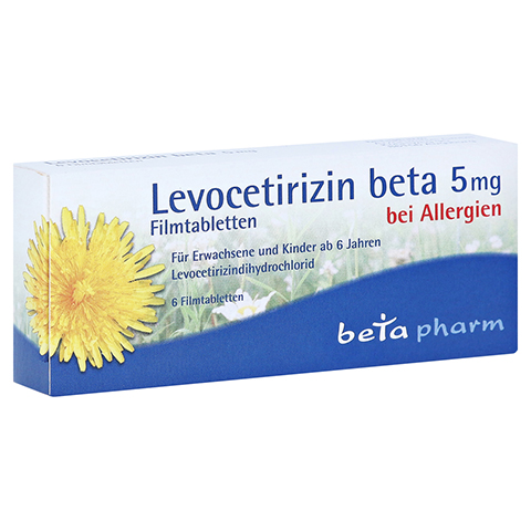 Levocetirizin beta 5mg 6 Stück