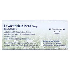 Levocetirizin beta 5mg 20 Stück N1 - Rückseite