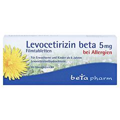 Levocetirizin beta 5mg 20 Stück N1 - Vorderseite