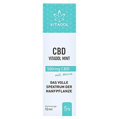 CBD 5% Bio Hanfextrakt Öl Vitadol mint 10 Milliliter - Vorderseite