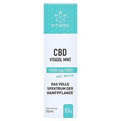 CBD 10% Bio Hanfextrakt Öl Vitadol mint 10 Milliliter - Vorderseite