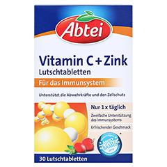 Abtei Vitamin C plus Zink Lutschtabletten 30 Stück - Vorderseite