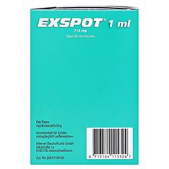 EXSPOT Lösung f.Hunde 6x1 Milliliter - Rechte Seite