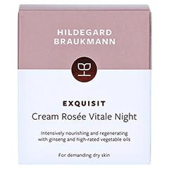 Hildegard Braukmann EXQUISIT Creme rosee vitale Nacht 50 Milliliter - Rückseite