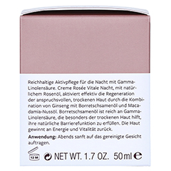 Hildegard Braukmann EXQUISIT Creme rosee vitale Nacht 50 Milliliter - Rechte Seite