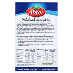 Abtei Magnesium+kalium Depot Tabletten 30 Stück - Rückseite