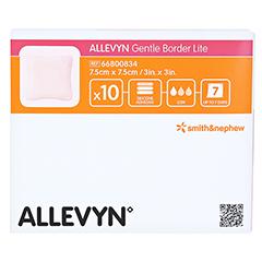 ALLEVYN Gentle Border Lite 7,5x7,5 cm Schaumverb. 10 Stück - Vorderseite