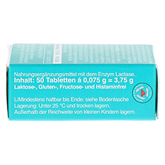 LACTOSTOP 5.500 FCC Tabletten Klickspender 50 Stück - Linke Seite