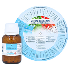 BIOCHEMIE DHU 2 Calcium phosphoricum D 6 Tabletten + gratis DHU Schüßler-Drehscheibe 420 Stück N3