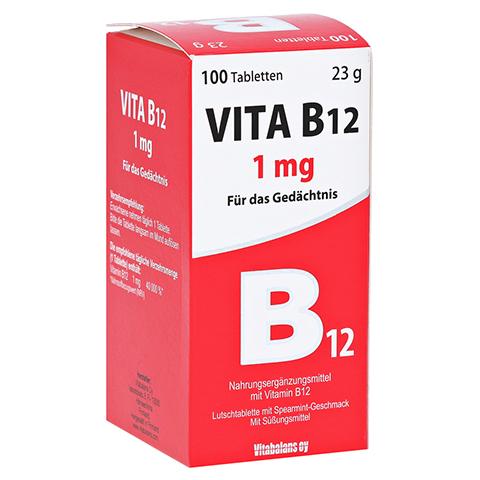 VITA B12 1 mg Minz-Aroma Lutschtabletten 100 Stück