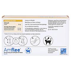 AMFLEE 50 mg Spot-on Lösung z.Auftropfen f.Katzen 6 Stück - Oberseite