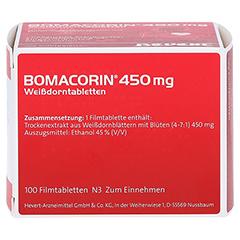 Bomacorin 450mg Weißdorntabletten 100 Stück N3 - Rechte Seite