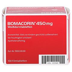Bomacorin 450mg Weißdorntabletten 100 Stück N3 - Linke Seite